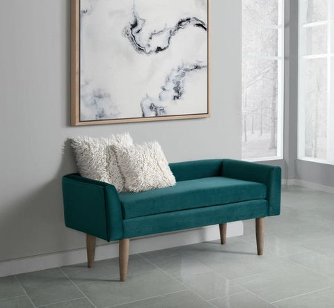 Tilly Peacock Upholstered Bench