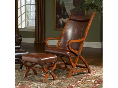Hunter Tobacco Chair and Ottoman