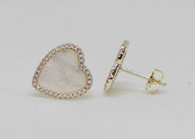 Load image into Gallery viewer, Mother of Pearl Heart Stud