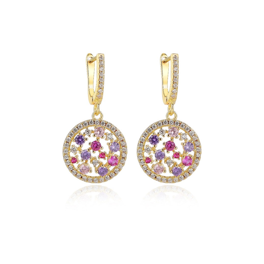 Bejeweled Circle Earring