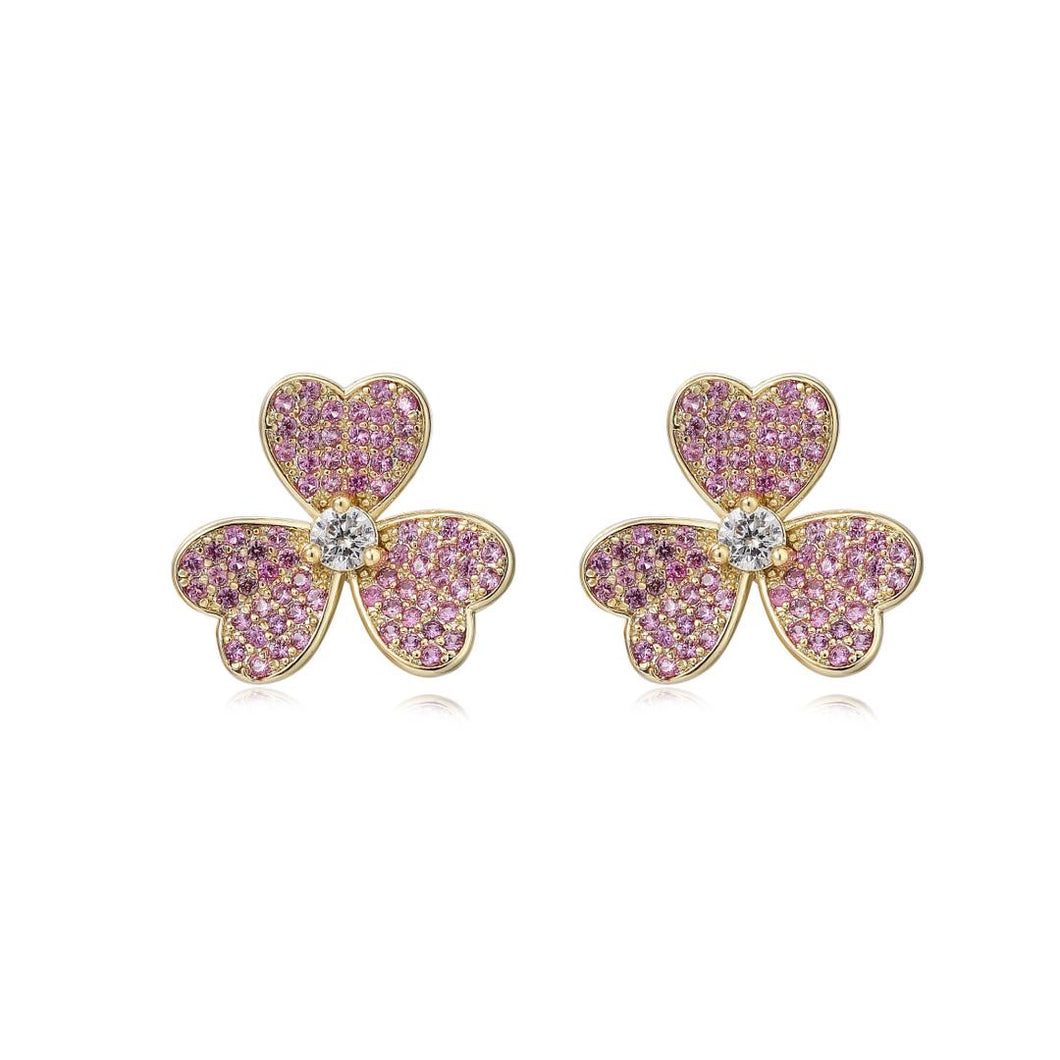 Sparkle Flower Stud Earring
