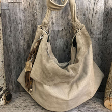 Load image into Gallery viewer, Italian Suede Leather Hobo Bag