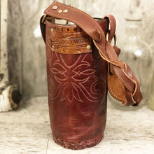 Load image into Gallery viewer, Vintage cowboy boot Spirit bag with verdigris spots and concho