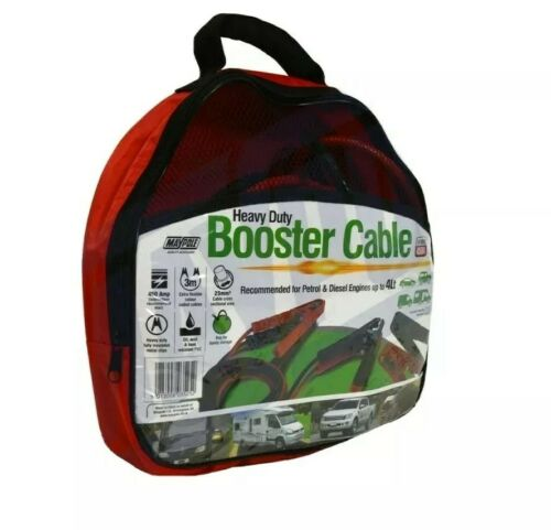 Jump Starter Booster Cables Car Heavy Duty 45mm² X 4M 900A Peak Maypole Mp3527 - Mid-Ulster Rotating Electrics Ltd