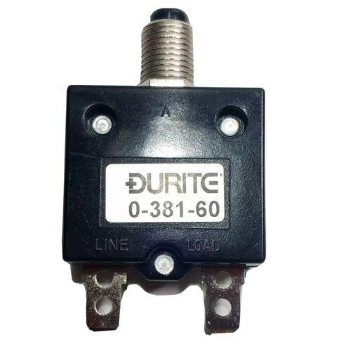 10A Thermal Circuit Breaker Trip Push Button Re-Settable 12V 24V Durite 0-381-60 - Mid-Ulster Rotating Electrics Ltd