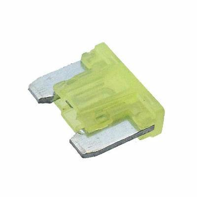 10 X 20A Mini Blade Fuse Automotive Low Profile Yellow Up To 58V Cargo 192769 - Mid-Ulster Rotating Electrics Ltd