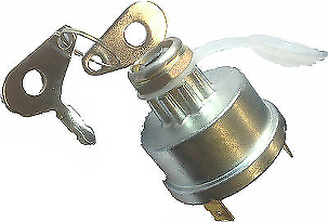 Lucas Type Tractor Ignition Starter Switch Start-Off-Glow Cargo 181236 - Mid-Ulster Rotating Electrics Ltd
