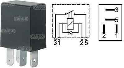 4 Pin Make & Break Relay Mini Compact Micro 12V 25A With Diode Cargo 160364 - Mid-Ulster Rotating Electrics Ltd