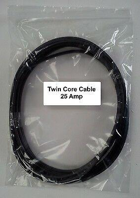 5M Length 25 Amp 2 Core Flat Twin Automarine 12V 24V Thin Wall Car Cable Wire - Mid-Ulster Rotating Electrics Ltd