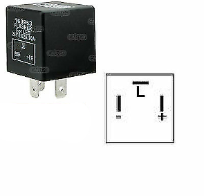 3 Pin Flasher Unit Relay Indicators 24V For Led Light Turn Signal Cargo 160952 - Mid-Ulster Rotating Electrics Ltd