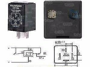 5 Pin Multi-Timer Relay Adjustable Variable 24V 10A Cargo 160928 - Mid-Ulster Rotating Electrics Ltd