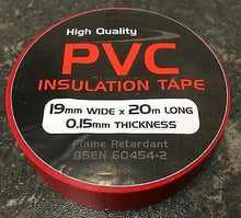 Load image into Gallery viewer, 2 Rolls Red Pvc Insulating Tape Strong 20M 19Mm Ctie Citred - Mid-Ulster Rotating Electrics Ltd