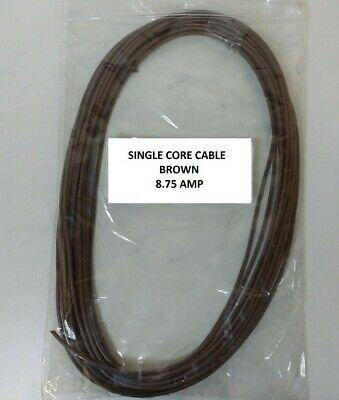 Automarine 12V 24V 5M Length 8.75A Amp Brown Single Core Pvc Car Boat Cable - Mid-Ulster Rotating Electrics Ltd