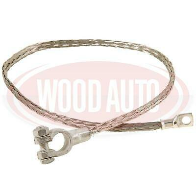 Braided Battery Lead 600Mm 130 Amp 8Mm Terminals Earth Cable Wood Auto Bet1005 - Mid-Ulster Rotating Electrics Ltd
