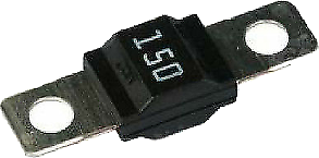 Midi Fuse 150 Amp Littelfuse Bolt Down White M5 12V 24V 32V Cargo 192435 - Mid-Ulster Rotating Electrics Ltd