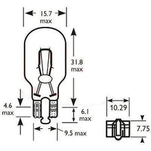 Load image into Gallery viewer, 2 X Wedge Bulbs W16W 12V Rear Indicator Stop Reverse And Fog Wood Auto Blb921B - Mid-Ulster Rotating Electrics Ltd