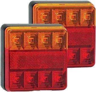 2 x 12V LED AUTOLAMPS REAR COMBINATION LIGHT STOP TAIL INDICATOR TRAILER 101BAR - Mid-Ulster Rotating Electrics Ltd