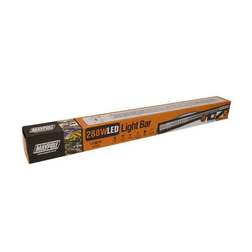 MAYPOLE EXTRA LARGE LED LIGHT BAR 12/24V 288W (96 x 3W) SPOT/FLOOD COMBO IP67 MP5074 - Mid-Ulster Rotating Electrics Ltd