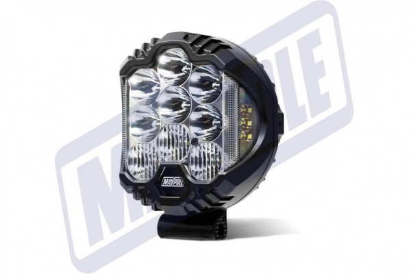 "GENUINE MAYPOLE ROUND LED DRIVING SPOTLIGHT 55W CLEAR LENS 9"" MP5077 - Mid-Ulster Rotating Electrics Ltd"