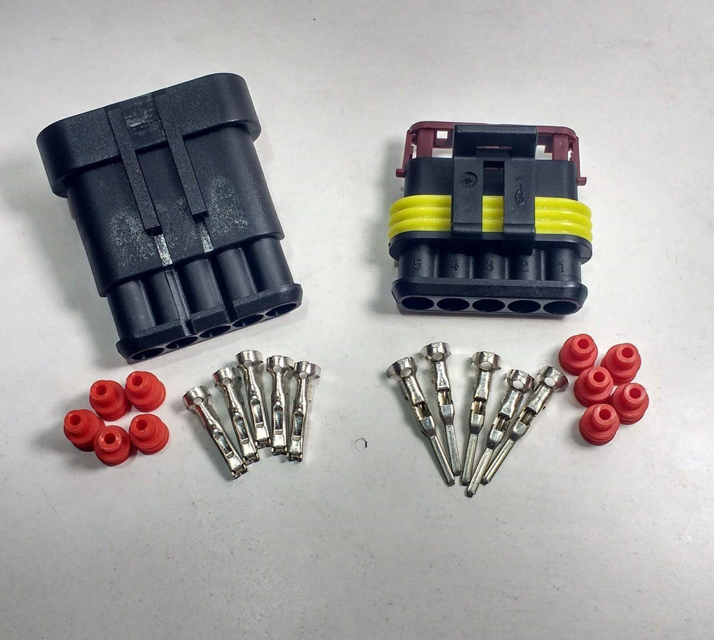 5 Way Superseal Plug Kit Connector Waterproof Marine Lorry Cargo 12V 24V - Mid-Ulster Rotating Electrics Ltd