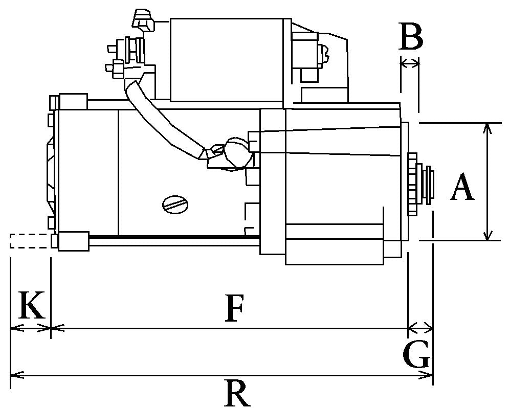 New 12v Starter Motor to Fit Hyster Yale Forklift Mazda 111273 - Mid-Ulster Rotating Electrics Ltd