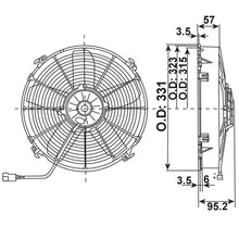 Load image into Gallery viewer, Axial Fan Blower Unit 12v Power Consumption Air Conditioning Fan 15.6 Amp Replacing Spal 160739 - Mid-Ulster Rotating Electrics Ltd