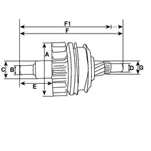 Load image into Gallery viewer, Starter Motor Drive Pinion Bendix Clutch Teeth HC-CARGO Replacing DENSO 5 Spline SDV32666 233180 - Mid-Ulster Rotating Electrics Ltd