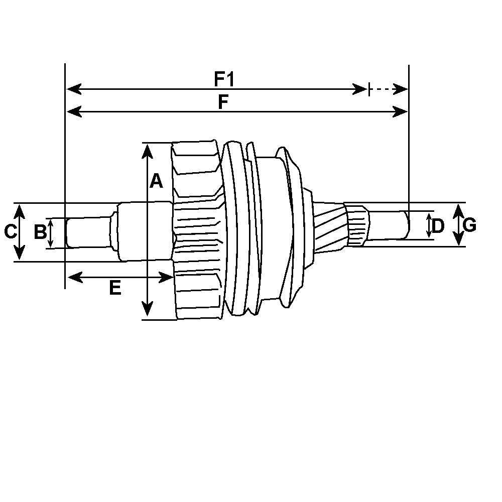 Starter Motor Drive Pinion Bendix Clutch Teeth HC-CARGO Replacing MITSUBISHI 26 Spline SDV38771 237834 - Mid-Ulster Rotating Electrics Ltd