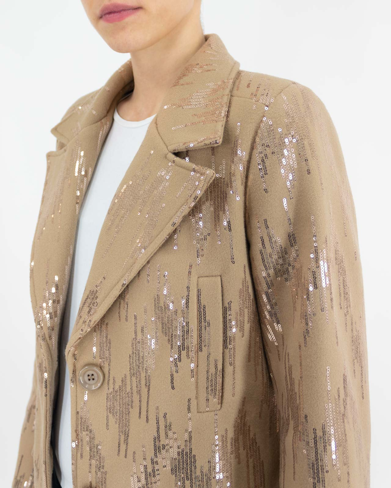 Cappotto luminoso cammello