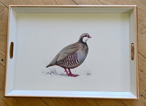 Large Rectangular Tray:  Partridge