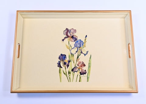 Large Rectangular Tray:   Iris