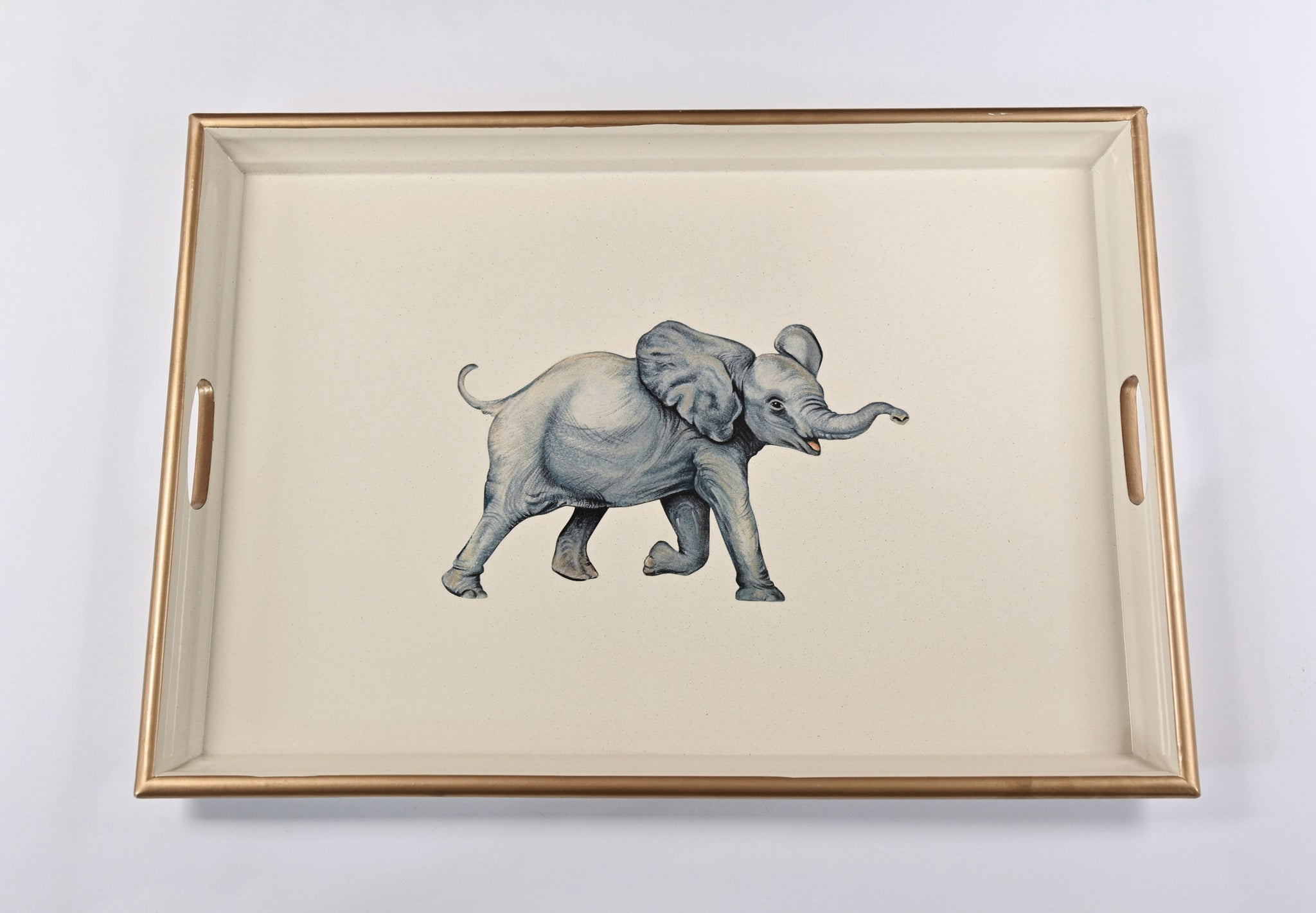 Large Wooden Tray: Elephant