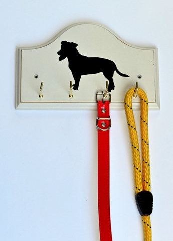 Key/Dog Lead Holder:  Jack Russell