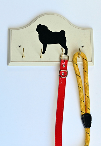 Key/Dog Lead Holder:  Pug