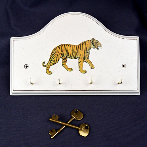 Key/Dog Lead Holder:  Tiger