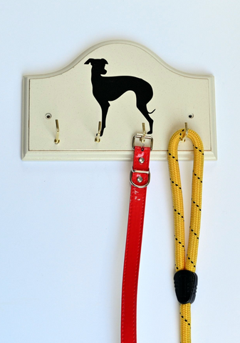 Key/Dog Lead Holder: Whippet