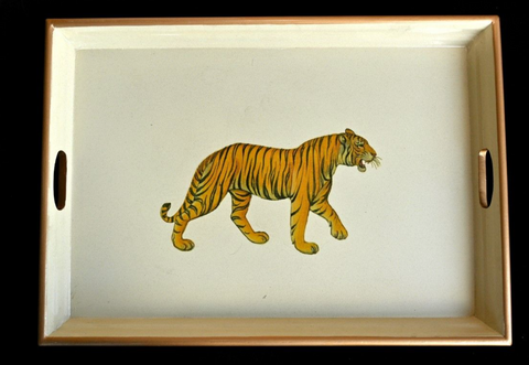 Large Rectangular Tray:  Tiger
