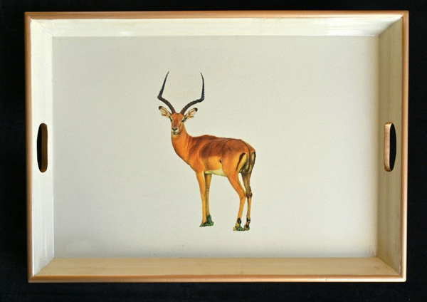 Large Rectangular Tray:  Impala