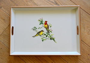 Large Rectangular Tray:  Oriental Songbirds