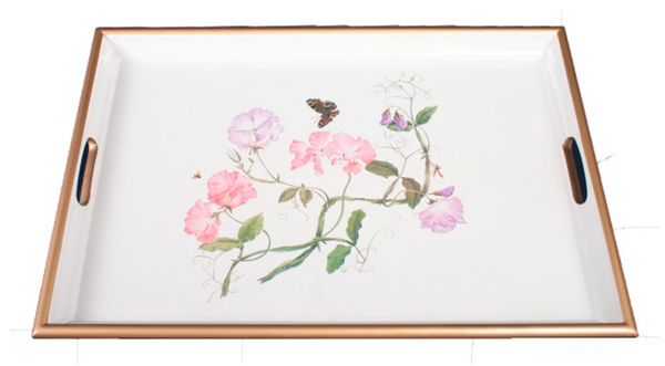 Large Rectangular Tray: Sweet Pea