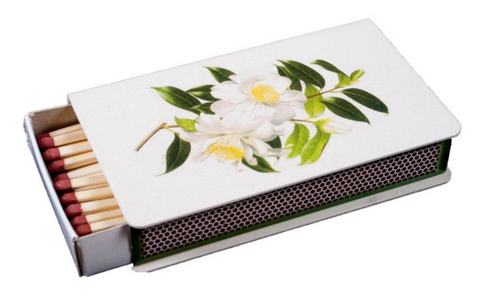 Long Matchbox Cover with matches:  Camellia