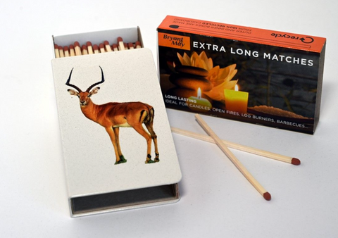 Long Matchbox Cover with matches:   Impala
