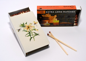 Long Matchbox Cover with matches: Japanese Lily
