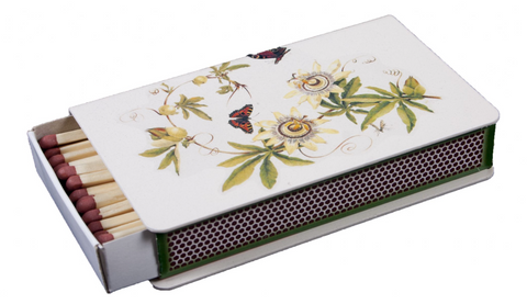 Long Matchbox Cover with matches: Passion Flower