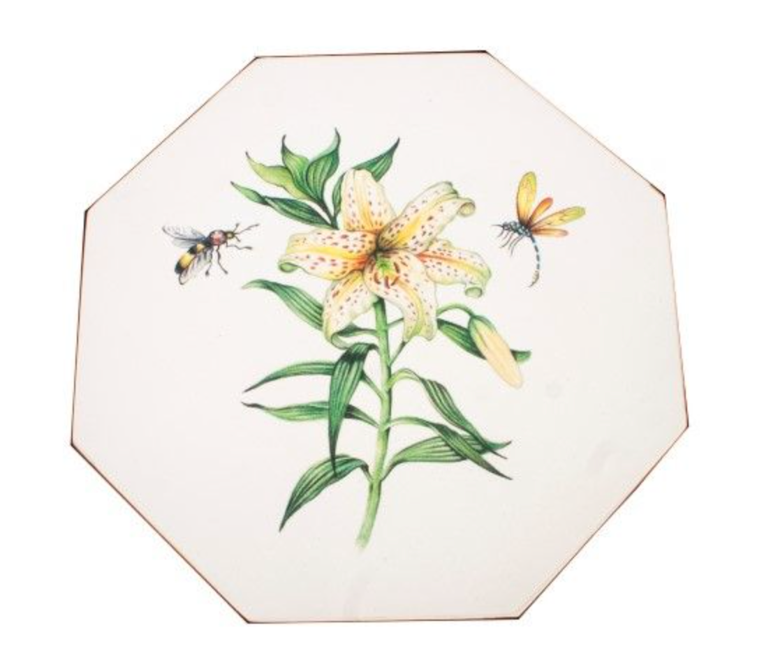 Octagonal Tablemats Set of 4 (boxed): Japanese Lily