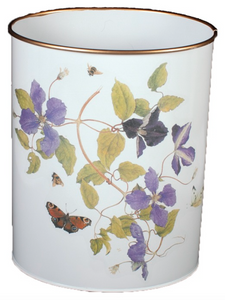 Oval Waste Paper Bin: Clematis