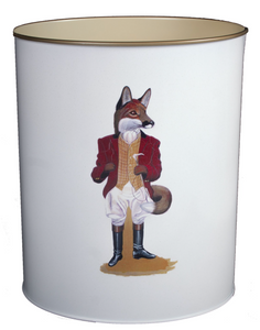 Oval Waste Paper Bin: Fox