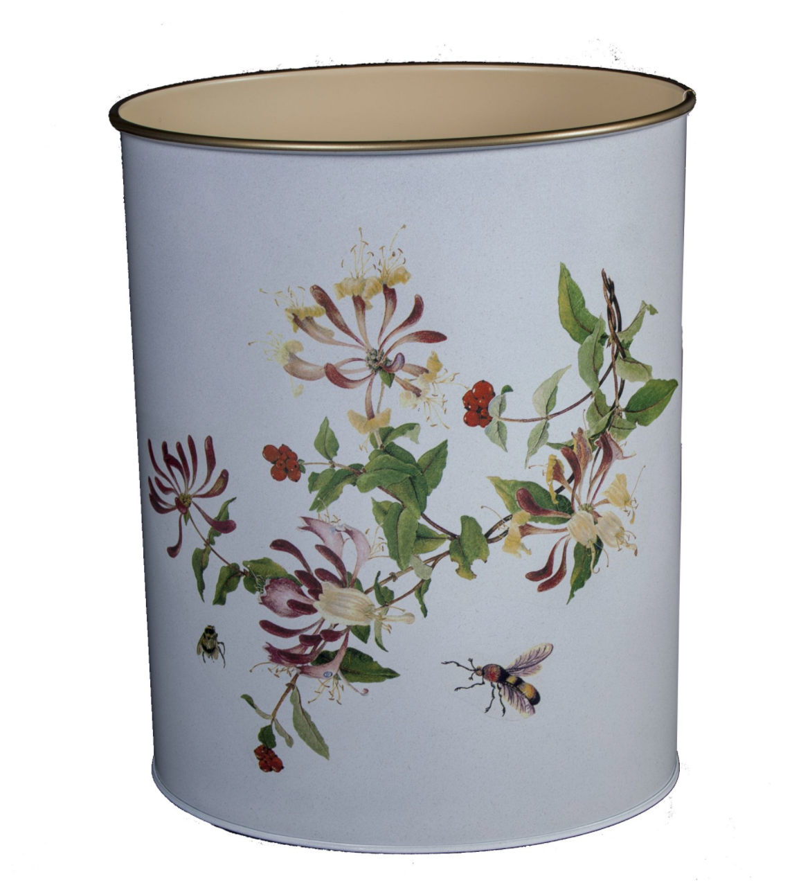 Oval Waste Paper Bin: Honeysuckle