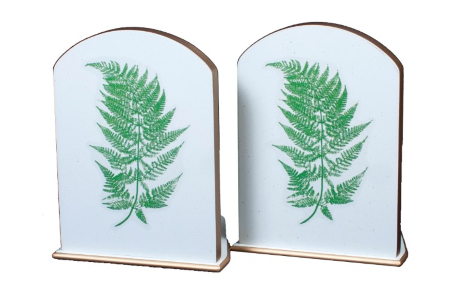Pair of Bookends: Fern