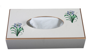 Rectangular Tissue Box Cover: Agapanthus